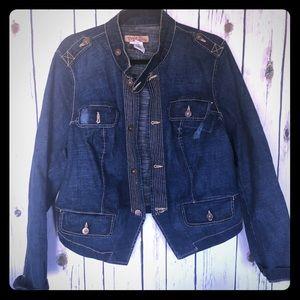 Paris Blues + Torrid Military Jean Jacket Plus 2X